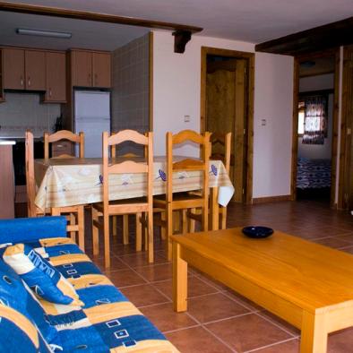 Casa Patro - salón y cocina