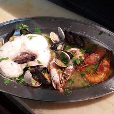 Merluza a la Vasca - Restaurante Sarao