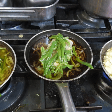 Bacalao confitado con pimientos - Restaurante Sarao