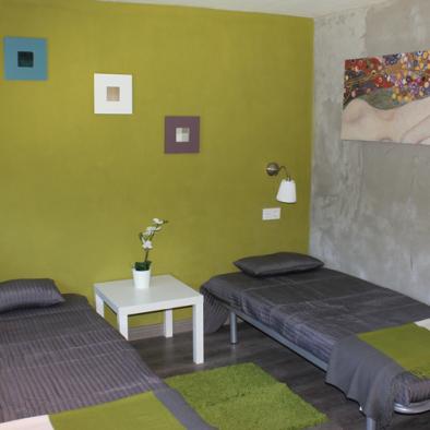 Camas habitación 1 - Hotel rural Santa Juliana